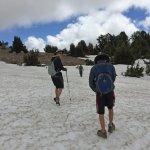 HIking through dirt, snow, ice and slush