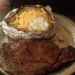 Ribeye and baked potato