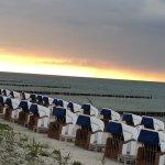 Abendstimmung an der Ostsee, Lage direkt vorm Hotel