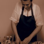 Chef Stefania making pasta