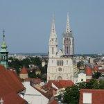 Вид с башни на кафедральный собор.