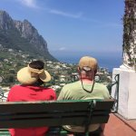 A couple enjoying the view in Capri... Only a half hour boat ride from Sorrento