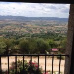 Fairytale views from the agriturismo's location high on an Umbrian hill.  Excellent house wine m