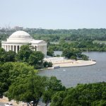 View of Jefferson Memorial from Room