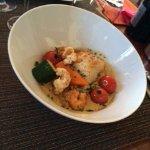 Cabillaud aux petits légumes et risotto aux langoustines