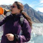 Toast on a glacier