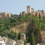 View from roof top sitting area of the Alhambra