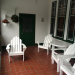 We watched the rain from these chairs on the protected balcony.