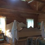 Main room of King cabin. VERY comfortable bed.