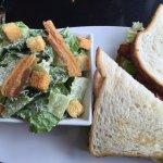 Chicken Club with Cesar Salad