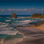 View to Glasshouse rocks beach at Narooma