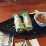 Large shrimp salad rolls