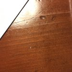 Ants on the bed & bedside table, pic of one next to the white mark.
