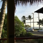 Fred's - View from Table. Beach Across Street.