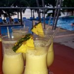 Pina coladas by the pool!
