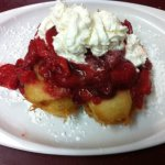 Strawberries and cream fried twinkies