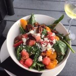Amazing salads at the restaurant