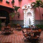 Hotel Sevilla. Interior cafetería.