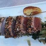 Great Tuna with sesame crust at Eberle