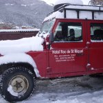 Landrover to theski- lifts