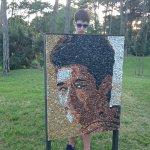 Портреты из цветных камней