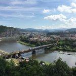 Blick von der Vetruse über Usti nad Labem