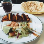 Delicious chicken tikka & naan bread
