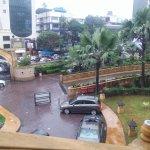 Part of hotel ground