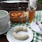 Traditionelle bayerische Jause
