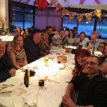 Wendy with her children and grandchildren 70th birthday meal
