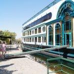 Embarking our Nile Cruise ship in Aswan.