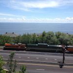 The North Shore train passes right in front of the hotel - another great option for family fun!