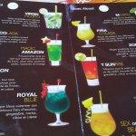 La carte des cocktail