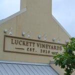 The front door of Luckett Vineyards....