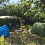 Emplacement pour tente ombragé et agréable