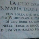 Aquí se indica que el lugar de la Basílica estaba ocupado por las Termas de Diocleciano .