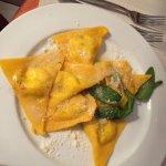 Home made triangular ravioli