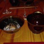 Oshokuji con anguila del delta