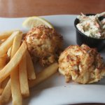 Wonderful lump crab cake platter