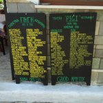 Selection of meals advertised outside of Pigi.