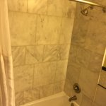 shower/tub combo. Spacious and clean.