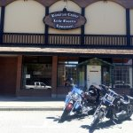 Front of Gasthaus (and our motorcycles)