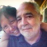 ein glückliches Touristenpaar im Hotel Villa Maxine: Emo und Andrea