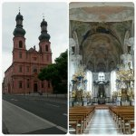 Fachad da igreja St Peter e Interior da mesma.