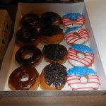 Krispy Kreme doughnuts at cabin