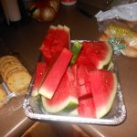 Swet watermelon at Cabin cookout