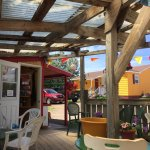 Cute patio and delicious treats.  Decent coffee. Cranberry scone not dry. Armenian baklava was m