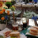 Hotel Tourist, Sorrento, Campania, Italy; The Pool-bar serving nice lunches every day