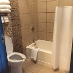 Nice spacious family suite with microwave and mini-fridge, but the bathroom was full of mold and