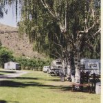Shady, treed campground